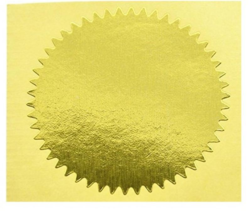 100pcs Zlato Vintage Embosser Pečat Pečat Prazan Certifikat - Umjetnost, obrt i šivanje - Foto 4