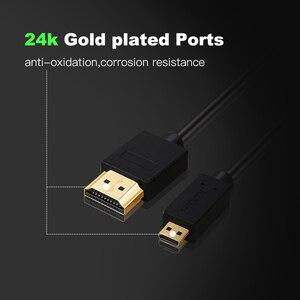 Image 2 - Micro HDMI vers HDMI câble plaqué or 2.0 3D 4k 1080P haute vitesse HDMI câble adaptateur pour HDTV PS3 XBOX PC caméra 1m 1.5m 2m 3m