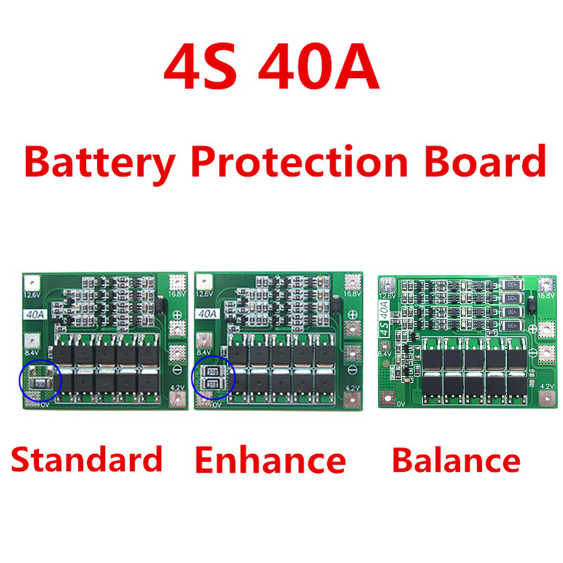 wholesale 4S 40A Lithium Battery Protection Board 18650 Charger PCB BMS For Drill Motor 3s 20a li ion lithium battery 18650 charger pcb bms protection board for drill motor 12 6v lipo cell module 64x20x3 4mm
