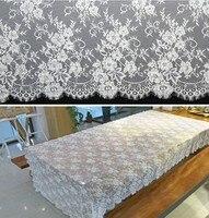 wedding fabric lace trim / table decoration/wedding dress accessorries / Eyelash edge Lace ribbon 150cm width x 300cm