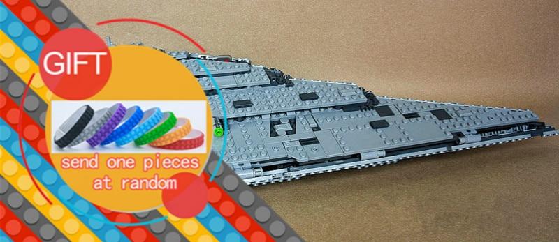05131 1585PCS Star Plan Series War The First order Star Model Destroyer Set Building Blocks Toy Gift Compatible with 75190 lepin конструктор lepin star plan истребитель набу 187 дет 05060