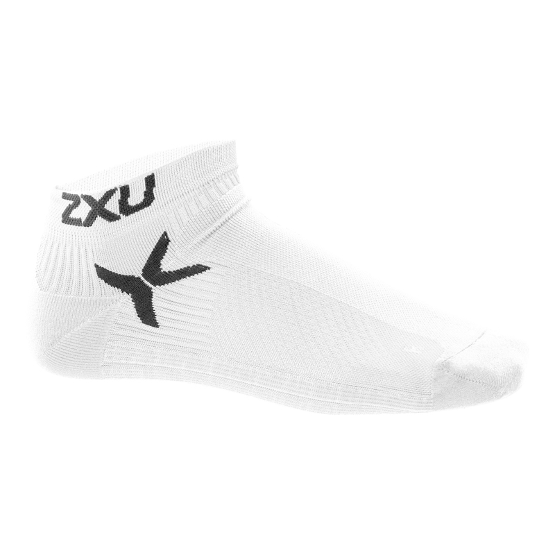 Men's Sports 2XU Short Socks (S / M (S), Black / White) TmallFS women s opal rhinestone zinc alloy pendant necklace white black multi color