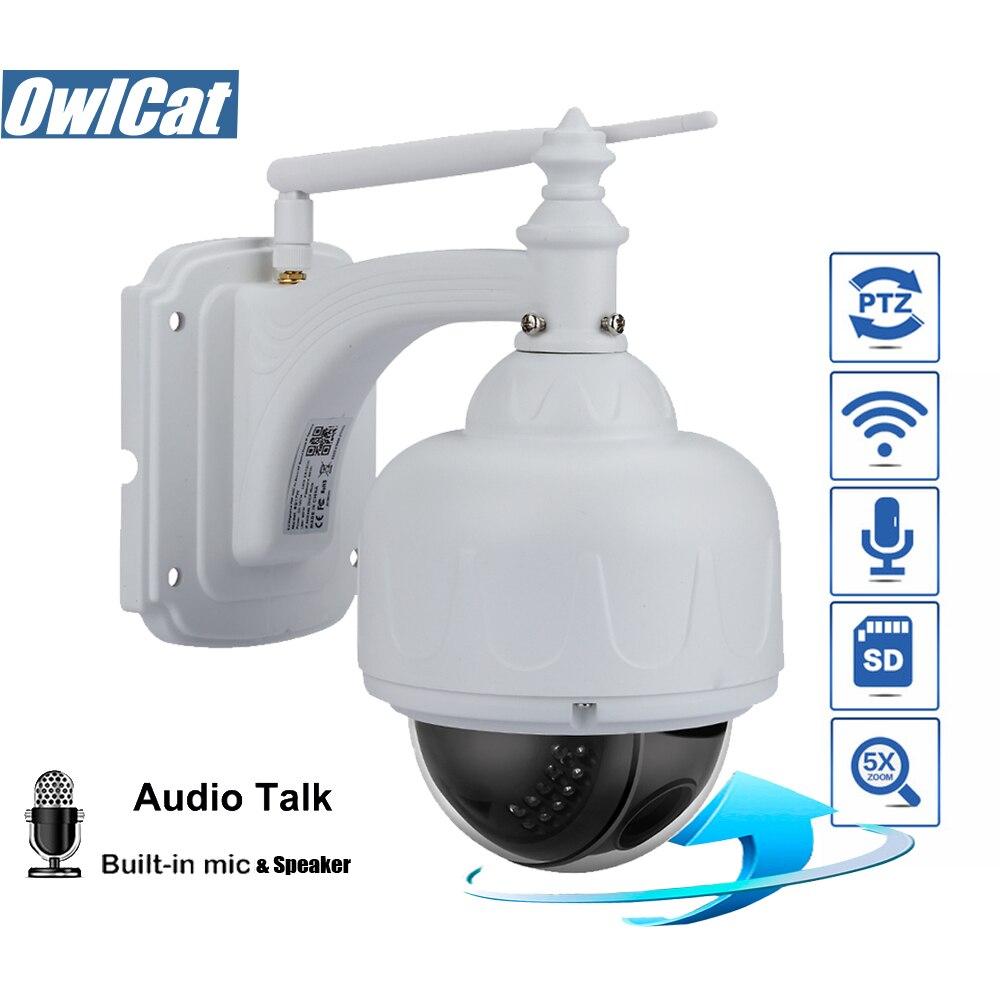 OwlCat En Plein Air/Étanche Dôme PTZ IP Caméra Wifi HD 1080 p de Sécurité CCTV Caméra Sans Fil 5X Zoom Deux Façon audio Carte SD IR P2P
