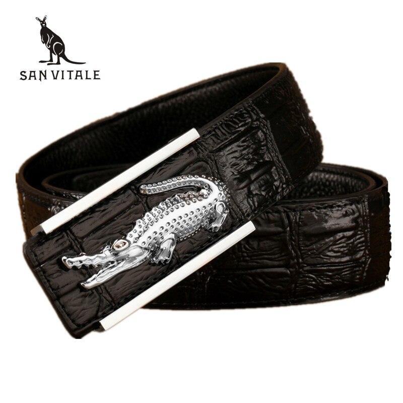 Leather Crocodile Model Of Commercial Crime Belt Designer Luxury Brand Belts Male High Quality Genuine Leather