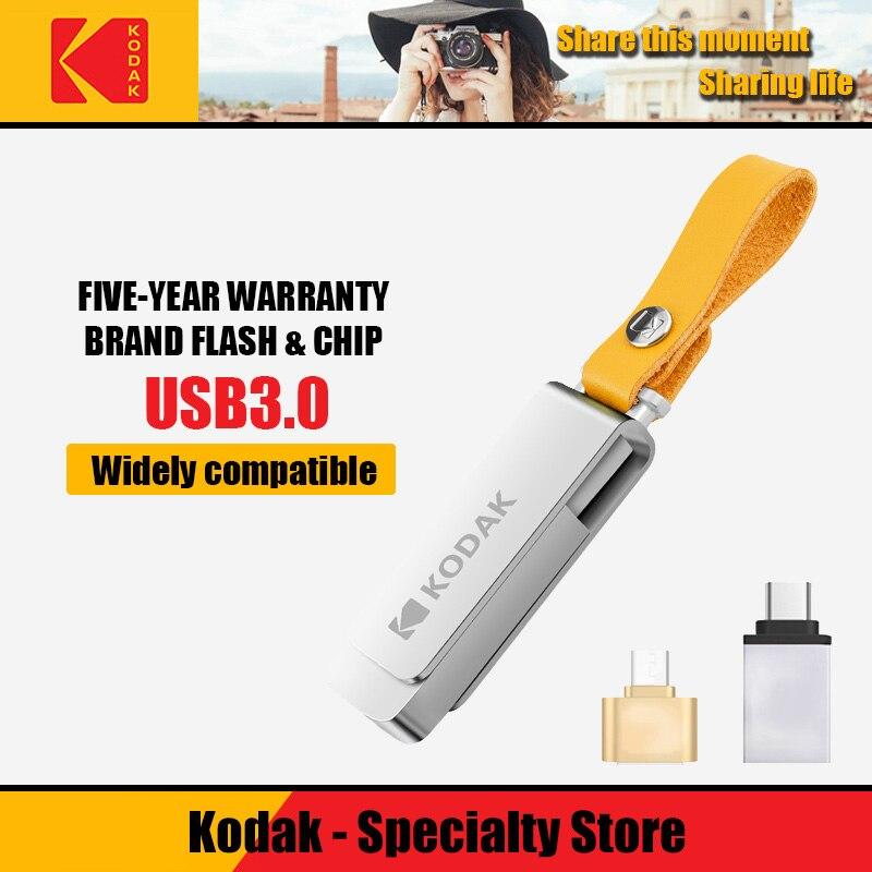 Kodak USB 3.1 K133 128gb Usb Flash Drive 256gb Mini Pen Drives 16gb USB 3.0 Stick 32gb Metal Memory Stick 64gb