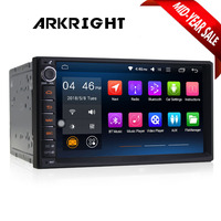 ARKRIGHT 7 Double 2 Din Android 6.0 Media Player Universal Car Radio Stereo Quad Core GPS Navigator Head Unit Steering Wheel