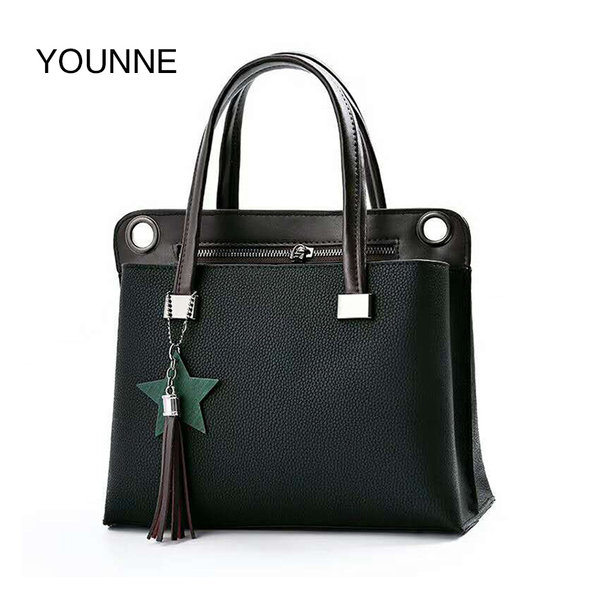 YOUNNE Luxury Handbags Women Bags Designer High Quality PU Leather Shoulder Bags Solid Top Handle Totes Female Crossbody Bag younne women shoulder bag female crossbody bags for girl bag lady fashion leather designer handbags high quality mini sac femme