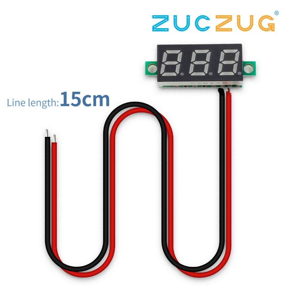 0.28 Inch 2.5V-30V Mini Digital Voltmeter Voltage Tester Meter LED Screen Electronic Parts Accessories Digital Voltmeter