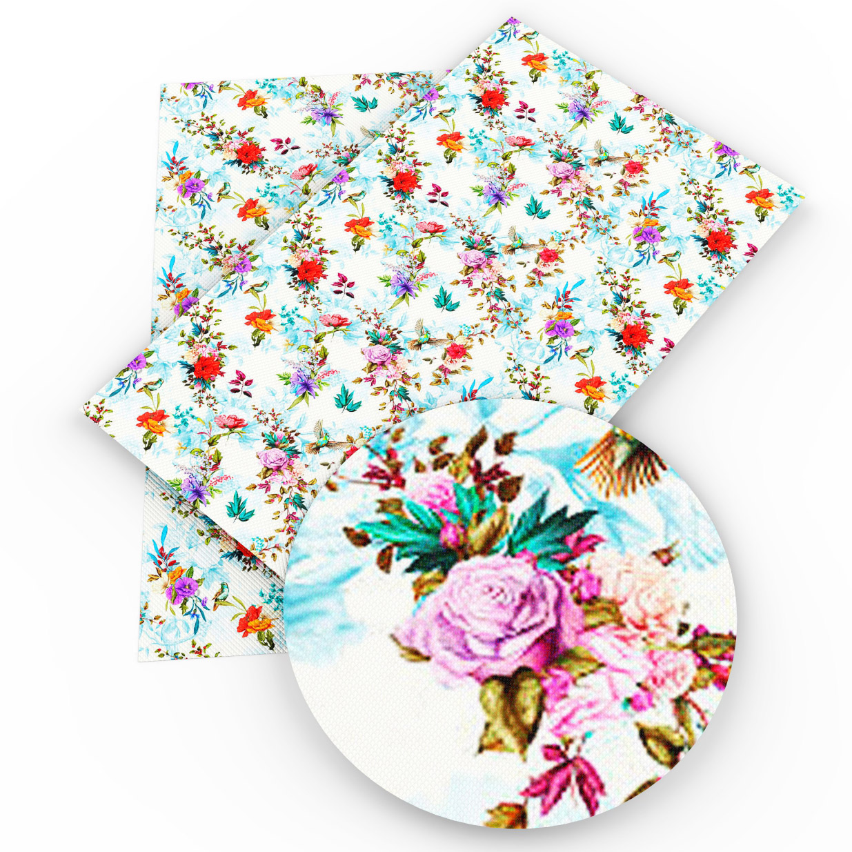 David accessories 20*34cm Stripe Halloween Bird Flower Faux Artificial Synthetic For DIY Sewing Bag Shoes Material,1Yc3718