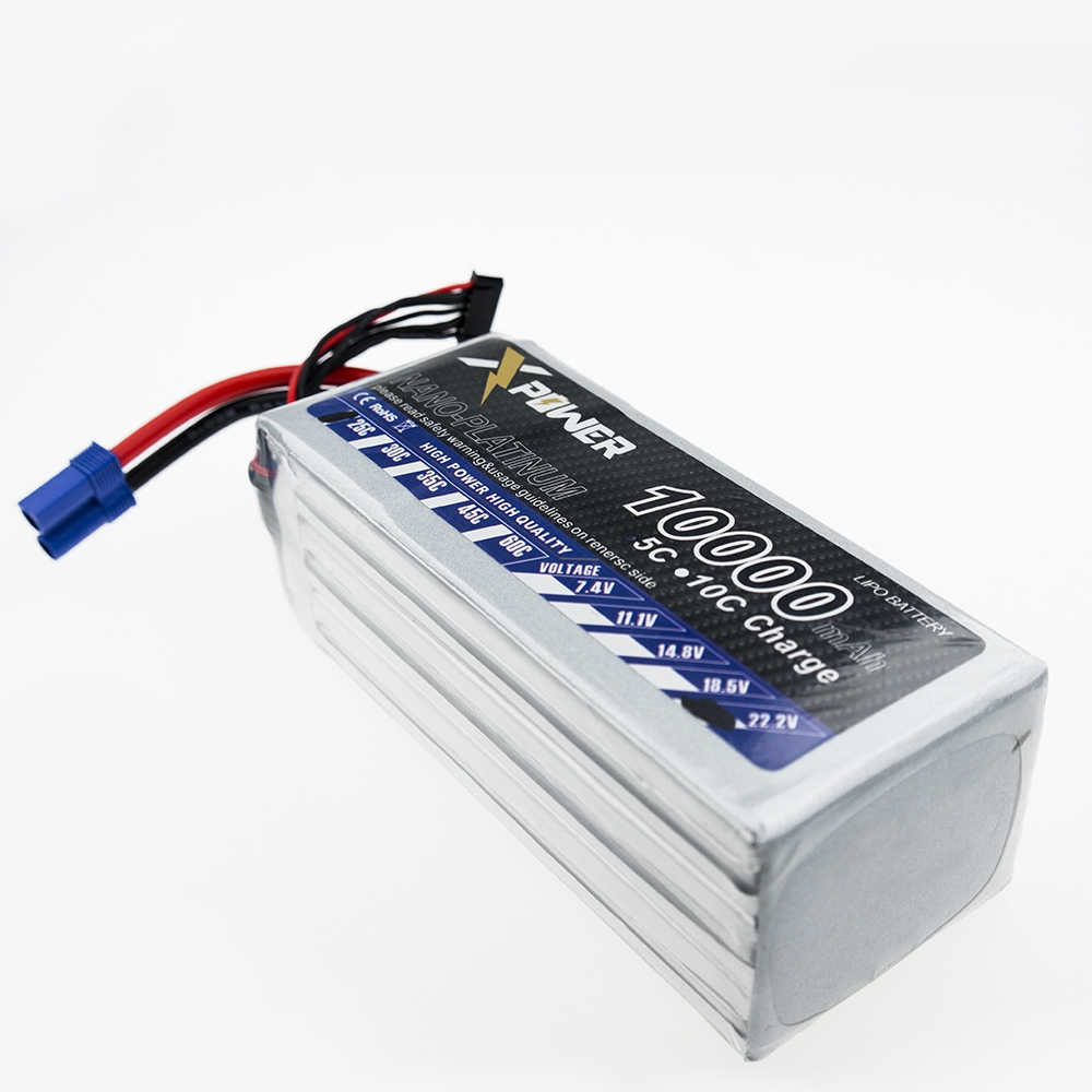Xpower Lipo 22.2V 6S 10000Mah Lithium Battery EC5 T XT60 plug For RC Helicopter Qudcopter Drone Car Boat Bateria 6s lipo 22 2v 10000mah lithium battery ec5 or t or xt60 xt90 plug for rc helicopter qudcopter drone car boat