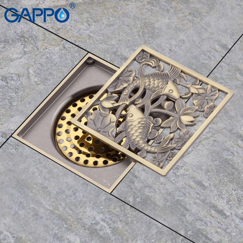 GAPPO draine Anti-odeur salle de bain drain de sol douche drain bouchons bouchon pour canalisation de douche