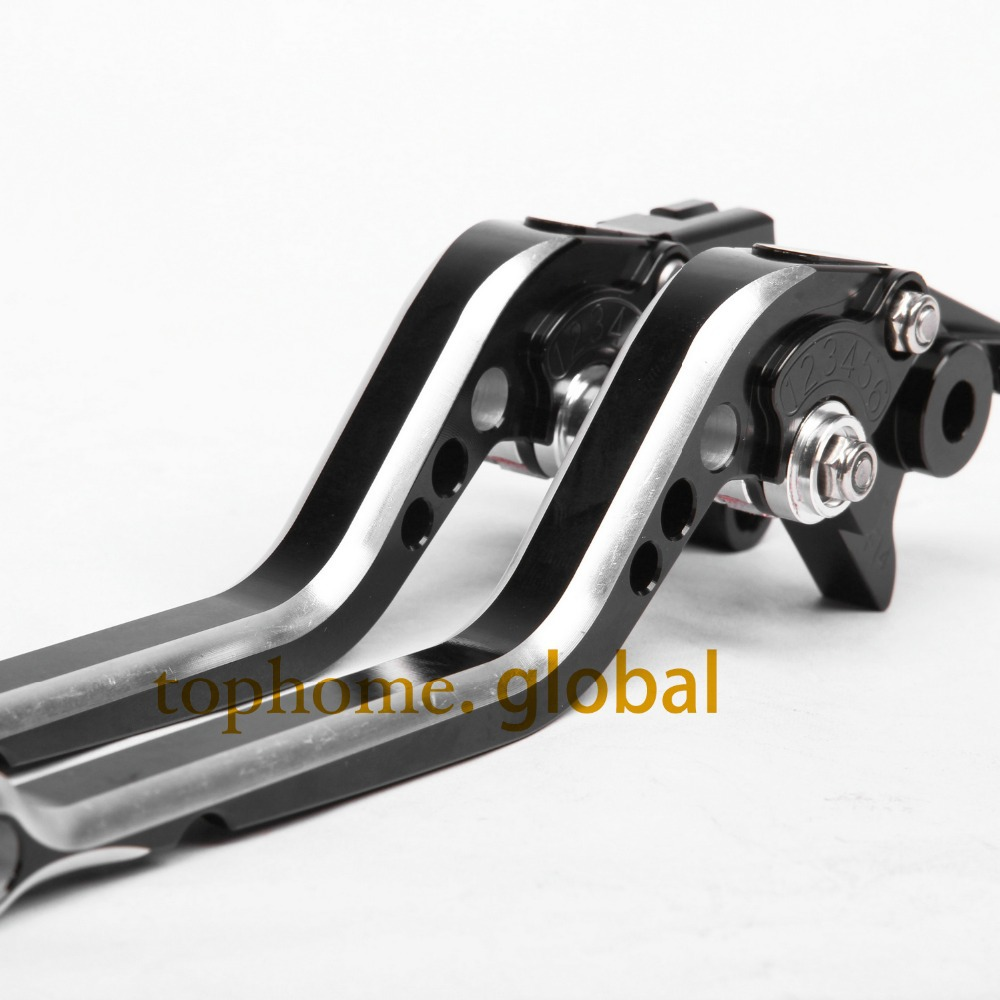 CNC Motorcycles Brake Clutch Levers Regular size Mixed Black&Silver Color For Yamaha TDM 900 2002-2003 2004 2005