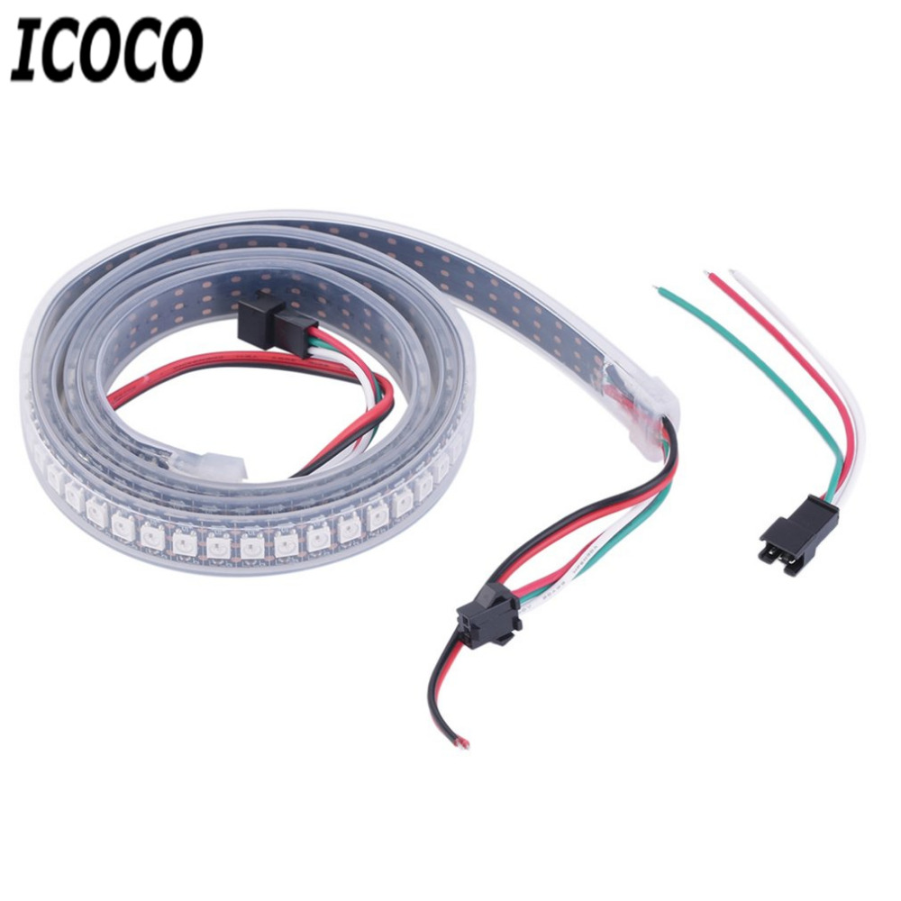 Fashion Decoration Light Strip High Light 1M 144LED <font><b>WS2812B</b></font> <font><b>5050</b></font> <font><b>RGB</b></font> LED Strip Light Waterproof Addressable Decoration image