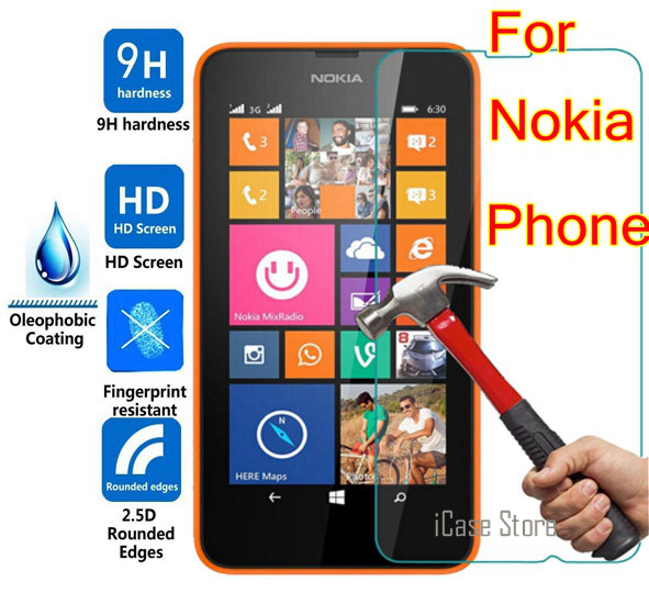 9H Tempered Glass For <font><b>Nokia</b></font> Lumia 640 <font><b>950</b></font> 430 435 520 530 532 535 630 730 820 830 <font><b>xl</b></font> x 930 <font><b>950</b></font> 950xl 650 550 540 Protector Film image