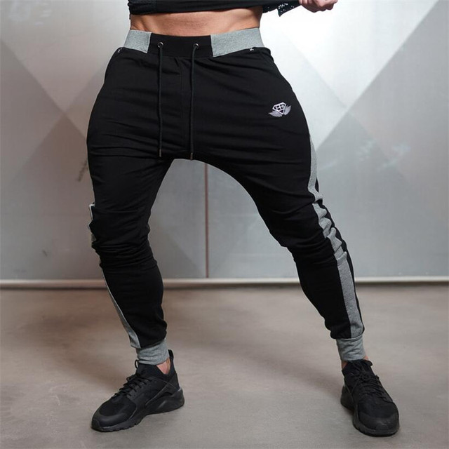 New Arrivals 2016 Year Men's Body Engineers Workout Cloth Sporting Active Cotton Pants Men Jogger Pants Sweatpants Bottom Leggin