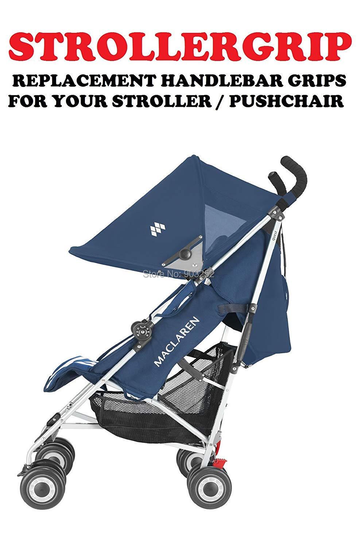 2 шт./комплект-черные чехлы для ручек коляски для моделей колясок с зонтиком-растягивающийся универсальный крой