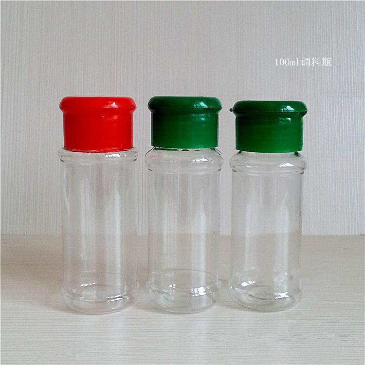 2pcs/lot BBQ Apothecary jar Plastic Spice shaker Pepper