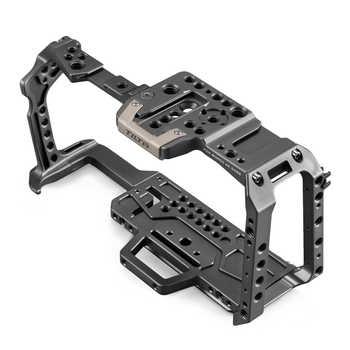 Tilta TA-T01-A-G Full Camera Cage Top Handle Wooden Side Handle F970 Battery Plate for Blackmagic Pocket BMPCC 4K / 6K Camera