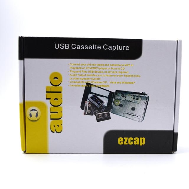 Desxz 5pcs/lot USB Cassette Capture Recorder Radio Player, Tape to PC Super Portable USB Cassette To MP3 Converter Adapter