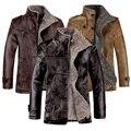 Oi-Q Primavera homens da Moda Jaquetas de Couro Da Motocicleta Dos Homens 2017 Inverno Quente Casual Casacos de Lã Grossa Masculino Bombardeiro 4XL jaqueta, UMA334
