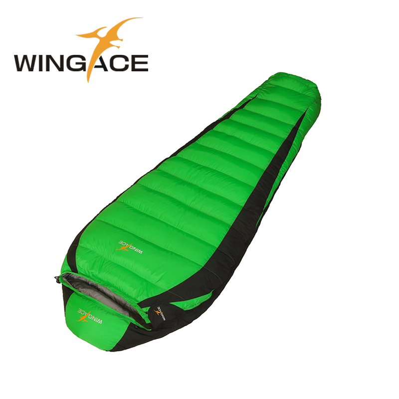 WINGACE Fill 400G 600G 800G 1000G Outdoor Camping Travel Hiking Sleeping Bag adult ultralight mummy nylon Duck down sleeping bag adult down outdoor camping sleeping bag mummy model sleeping bag with waterproof nylon sleeping bag