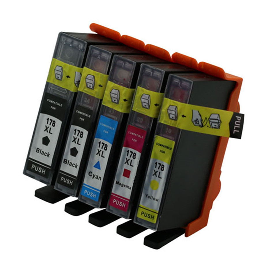 Ink Cartridge Compatible For <font><b>HP</b></font> <font><b>178</b></font> 178XL PhotoSmart C5383 C5380 C6383 6515 6520 7510 7515 B109a B109n B110a Printer Inkjet image