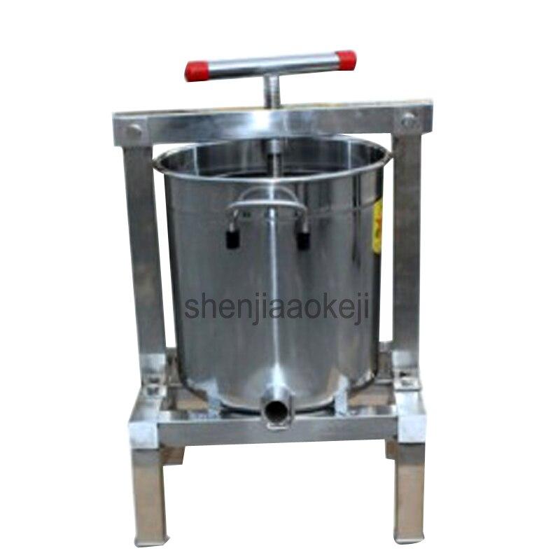 Machine de presseur de miel de paraffine d'acier inoxydable machine de presse de cire entièrement fermée manuelle 1pc