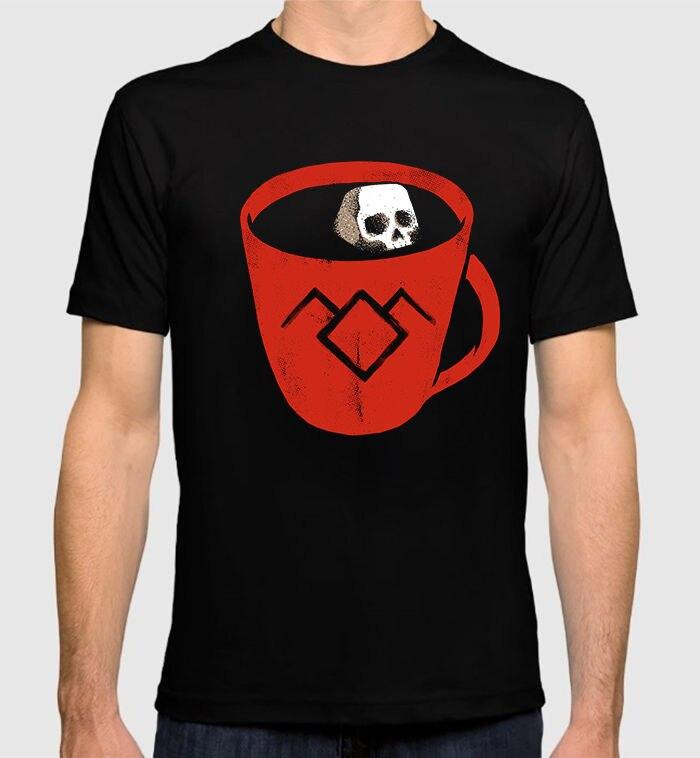 Twin Peaks Coffee Art T-Shirt David Lynch 100% Cotton Mens Tee 100% Cotton Short Sleeve O-Neck Tops Tee Shirts