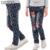 Pantalones Vaqueros de las muchachas Polka Dot Niños Pantalones de Mezclilla Para Las Niñas Ropa de la Historieta ratón Niñas Pantalones 2016 Del Otoño Del Resorte Ropa 5 7 9 11 años