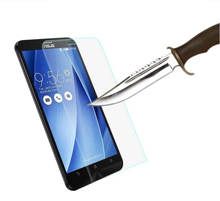 Edzett üvegvédő fólia tasak ASUS Zenfone 2 lézerhez ZE500KL 4 5 lite 6 Max Selfie live G500TG GO ZC500TG ZC451TG