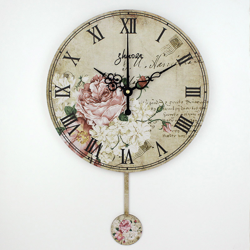 Vintage Large Decorative Wall Clock Mute Quartz Home Watch Wall Fashion Living Room Wall Watches Wedding Gifts Duvar Saati