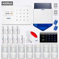 KERUI G18 Беспроводная GSM домашняя охранная сигнализация приложение дистанционное управление с клавиатурой RFID карта Солнечная водонепроницае