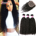 Brazilian Kinky Curly Virgin Hair With Closure Cheap Brazilian Hair 4 Bundles With Closure Brazilian Virgin Hair With Closure