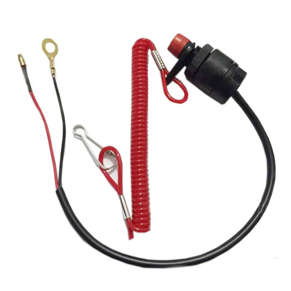 Button Emergency Cut Off Motor Outboard Boat Professional Lanyard Kill Tether Stop Switch Safety Accessories Practical