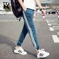 2017 hombres de la manera pantalones corredores hip hop fitness pantalon homme casual pant m-5xl tamaño completo línea patrón pant