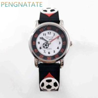 Willis 3D Football Clock Rubber Strap Quartz Watch Luxury Brand Waterproof Children Qlastic Watches Clock Child
