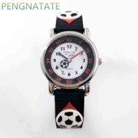 Willis 3D Football Clock Rubber Strap Quartz Watch Luxury Brand Waterproof Children Qlastic Watches Clock Child