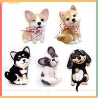 original genuine DIY Corgi puppy Shiba Inu French bulldog Dachshund handmade felted wool little pet stuffed plush toys gift