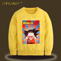 New Year Children Dragon Ball T Shirts For Boys Winter Fall SON GOKU Cartoon Long Sleeve
