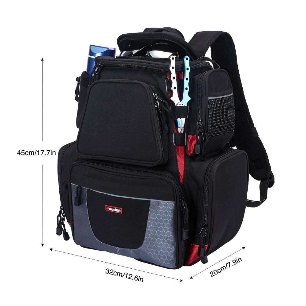 Piscifun Fishing Tackle Backpack Waterproof Tackle Bag Trays Storage Outdoor Fishing Bag Protective Rain Cover(no tackle boxes) - 2