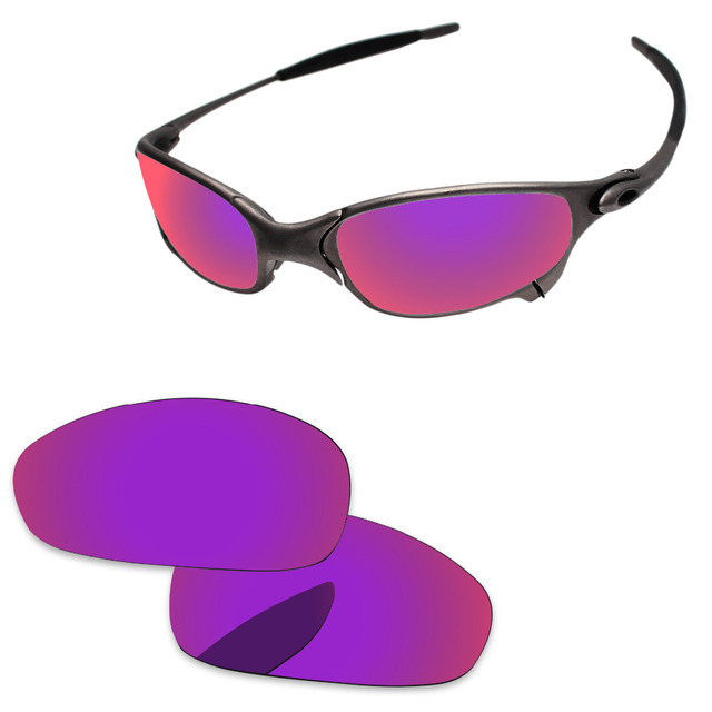 18dd2488487 Purple Red Mirror Polarized Replacement Lenses For Juliet Sunglasses Frame  100% UVA   UVB Protection