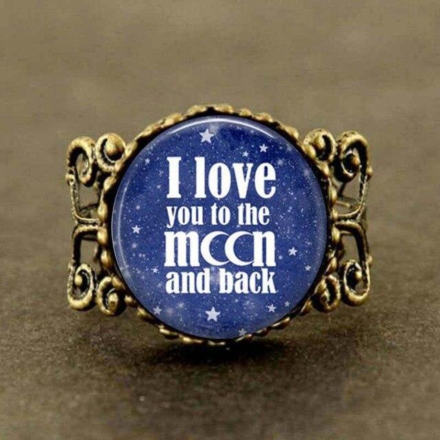 Ich Liebe Dich Zum Mond Und Zurück, Valentinstag Geschenk Ring, Mond Ring,  Mond