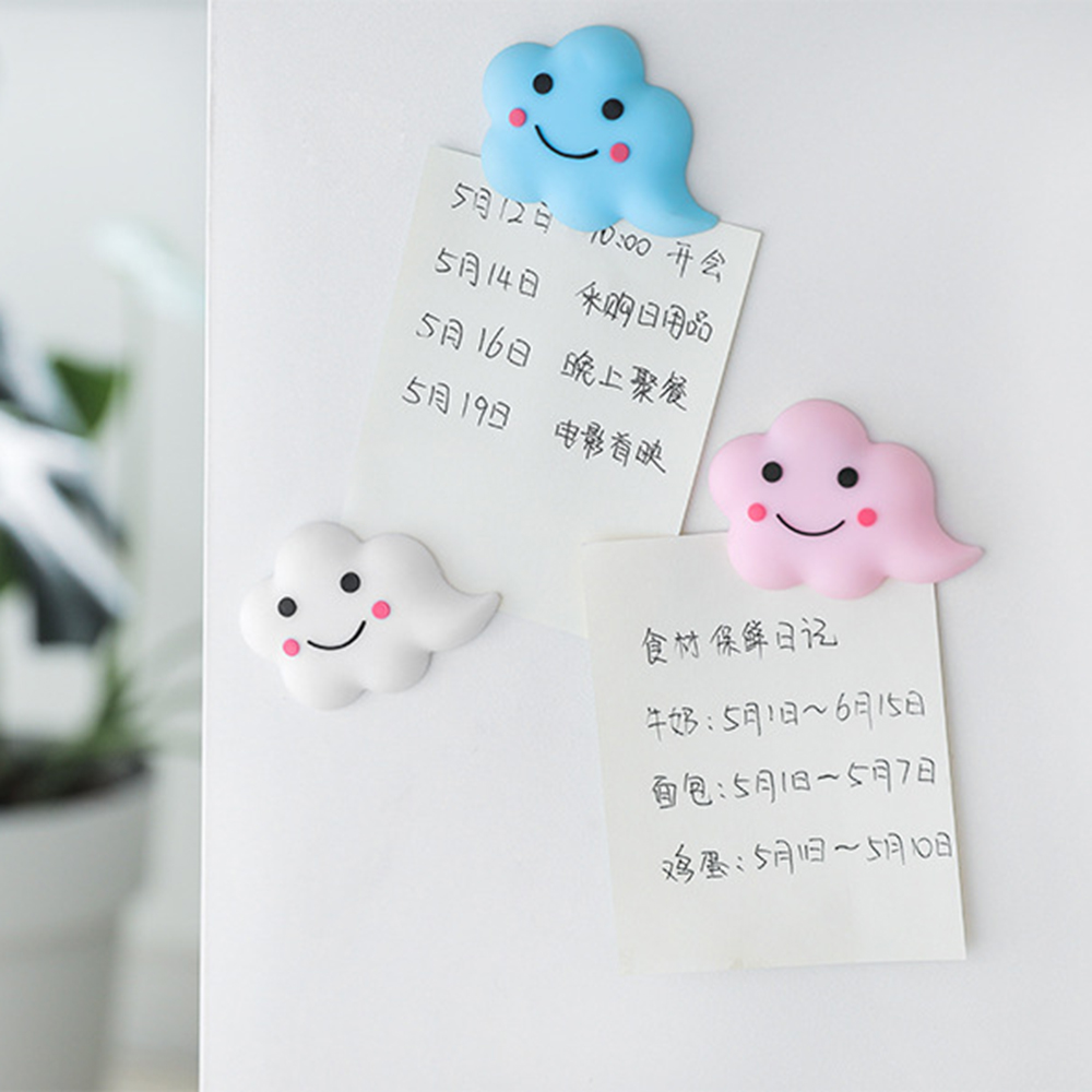 3 Colors Mini Cute Cartoon Kawaii Fridge Magnets Whiteboard Sticker Refrigerator Magnets Kids Gift Home Decoration Free Shipping(China)