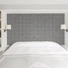 Gold Greek Key Pattern White Wallpaper Modern Geometric Metallic Vinyl Wall Paper Roll Teal White / Black White / Silver White