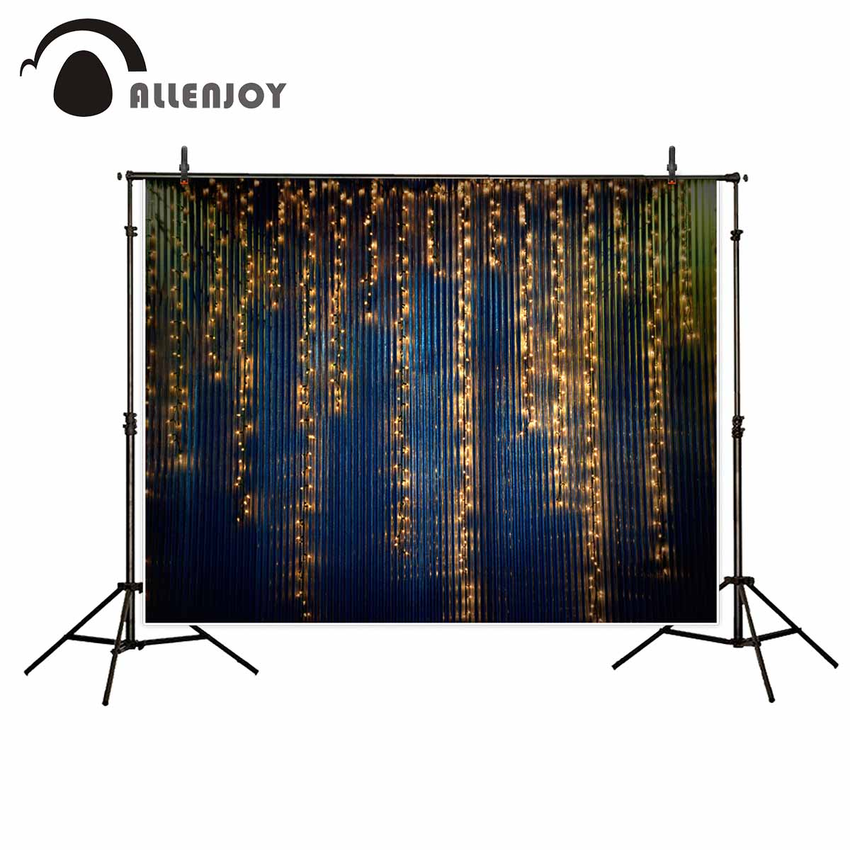Allenjoy photography backdrops Golden bulbs vintage metal wall wedding background photo backdrop new photographic backdrops