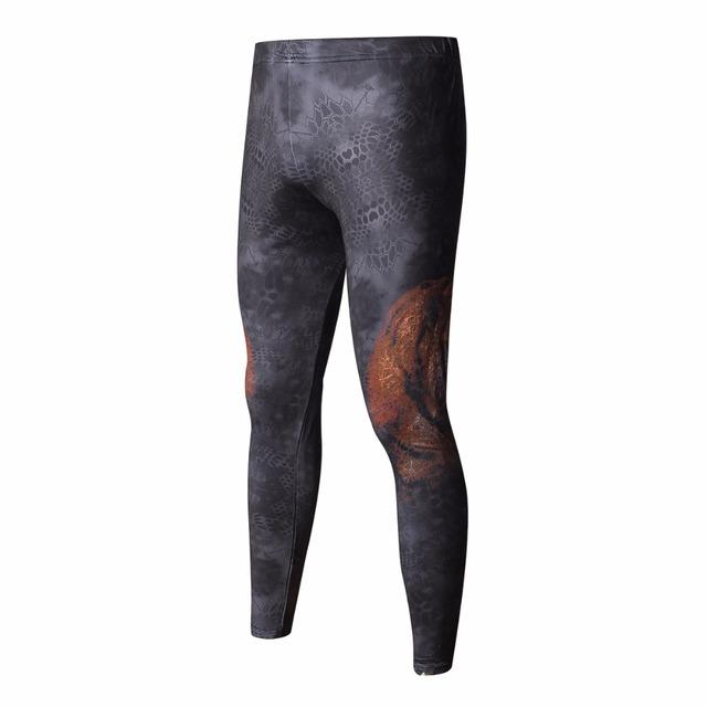 High-Quality Men's 3D Pattern Fitness Leggings