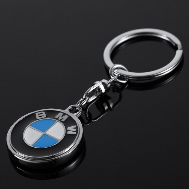 Metal Car Logo Key Chain BMW