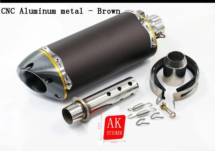 Universal Motorcycle Scooter Aluminum metal Muffler Exhaust Moto For Honda CBR 125 250 400 600 900 1000 CB250 CB400 CB600 CB1300