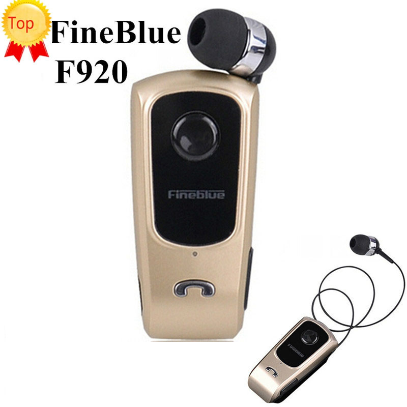 Top Original FineBlue F920 Wireless Auriculares Driver Bluetooth Earphone Call Remind Vibration Wear Clip Bluetooth Headset Fone