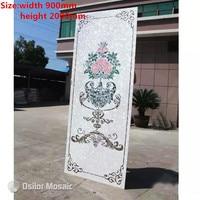 Индивидуальные ручной работы мозаичного искусства перламутровые мозаика Art фрески для интерьера дома украшения цветочный узор